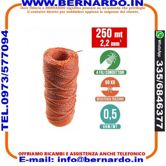Filo Conduttore 250 MT 2.2 mm²